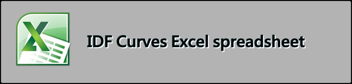 IDF Curves Excel spreadsheet