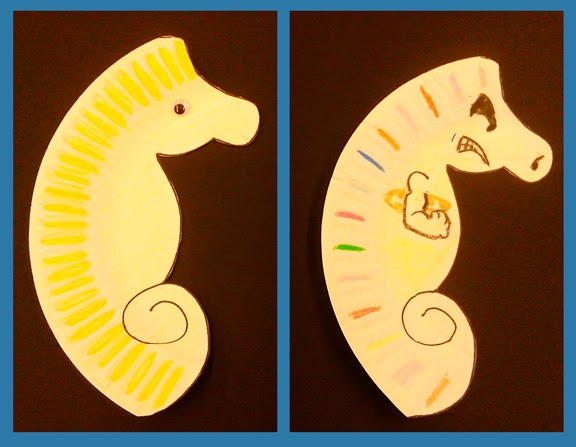 Seahorse Paper Plate projects  sc 1 st  Ideas and Inspirations & Ideas and Inspirations: Crankin\u0027 Out Crafts On The Road Episode 378 ...