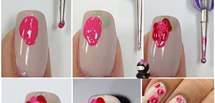 Pink rose nail art tutorial emaggy pink rose nail art tutorial prinsesfo Gallery
