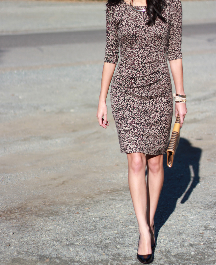 Trina Turk mariposa cheetah dress fall dresses
