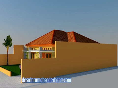 Desain rumah type 120/220 tampak kanan