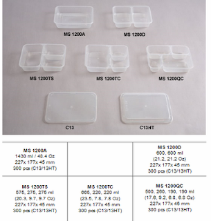 MICROWABLE CONTAINER 3 COMPARTMENT