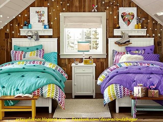 Dormitorio para dos adolescentes decoraci n del hogar for Diseno de habitacion para adolescente