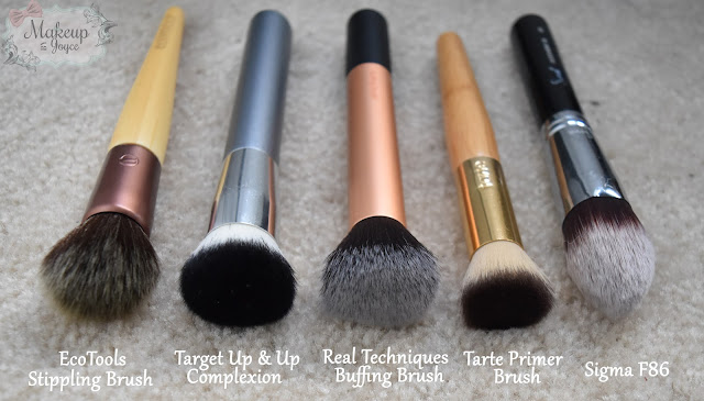 ecotools stippling brush vs real techniques buffing brush