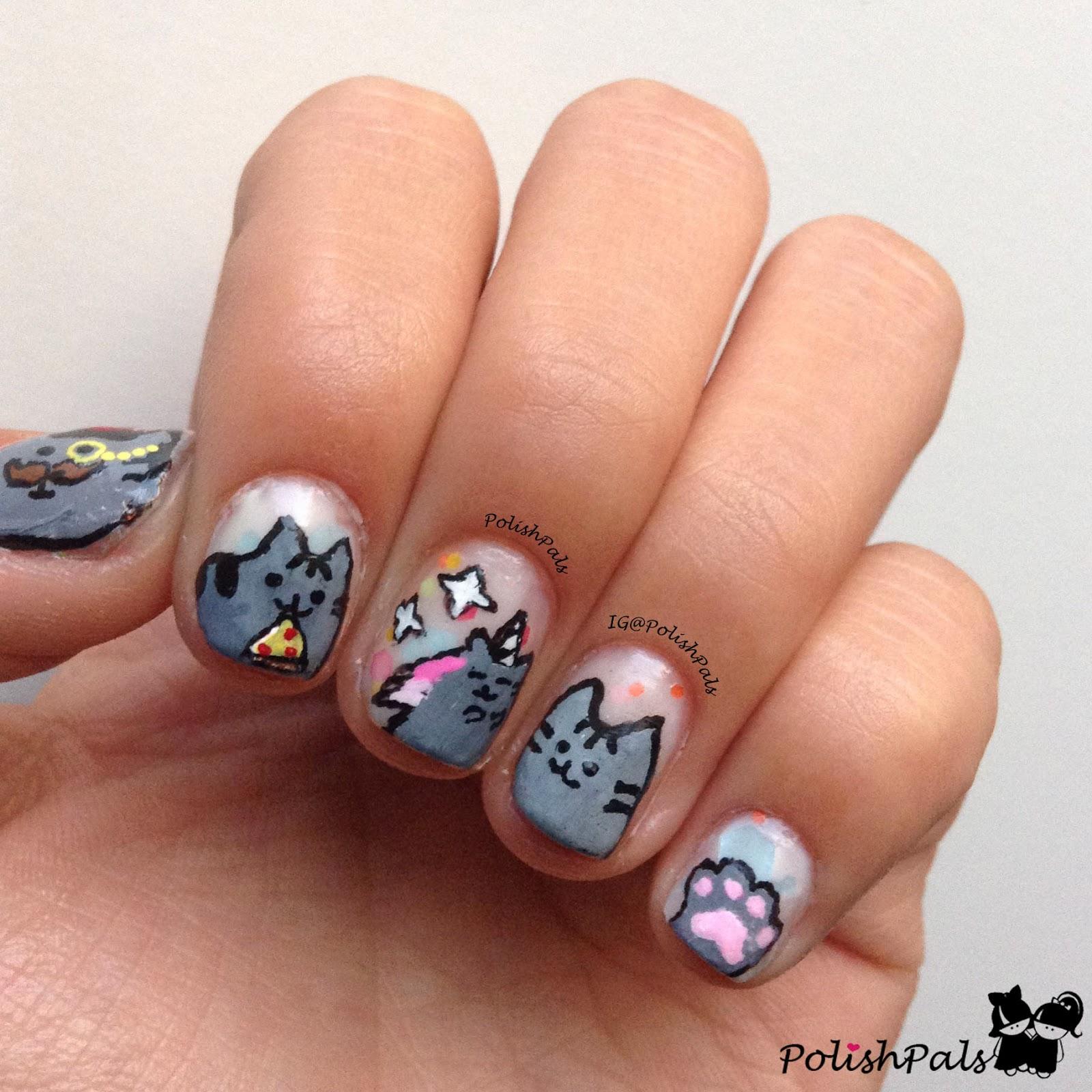 Polish Pals: Pusheen Nails