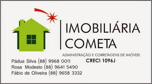 IMOBILIÁRIA COMETA QUIXADÁ CRECI 1096 J - FABIO (88) 9658 3332 - PÁDUA 9968 0011 - ROSA 9641 5490