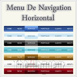 Ajouter Menu Navigation Horizontal Blogger