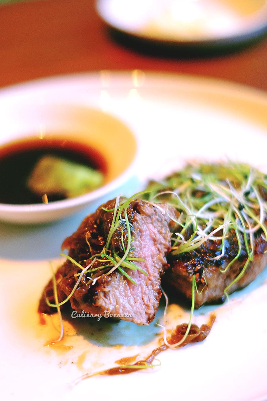 Kagoshima Beef with onion jam & ponzu