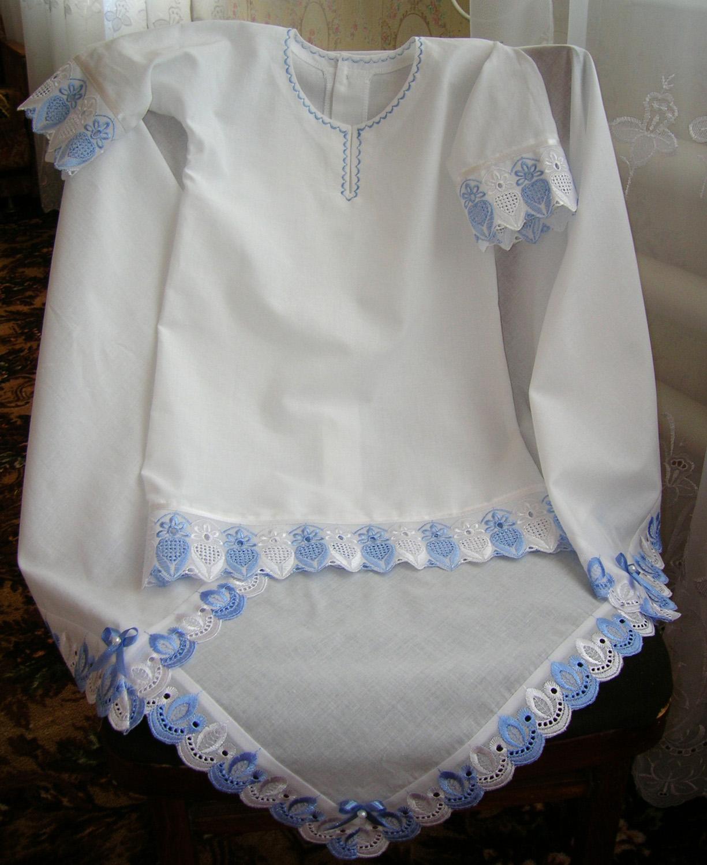 Шьем крестильную рубашку с кружевными вставками Ярмарка Мастеров 60
