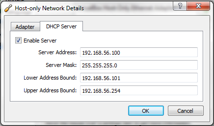 how to create host only networks in virtualbox