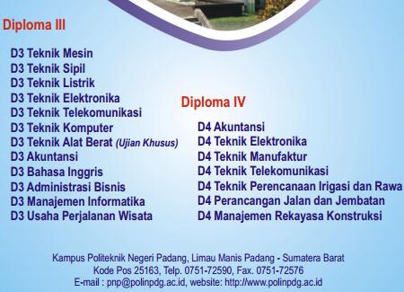 Panduan Penerimaan Mahasiswa Baru Jalur UMPN Politeknik Negeri Padang 2013