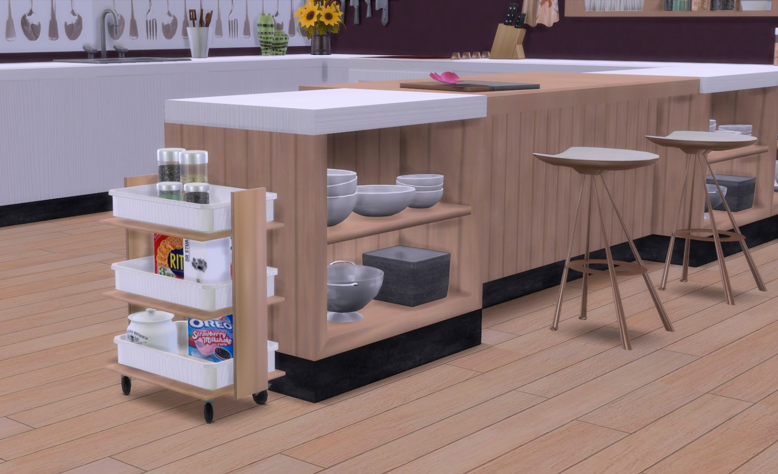 My sims 4 blog firence kitchen set by pqsim4 for Kitchen set sims 4