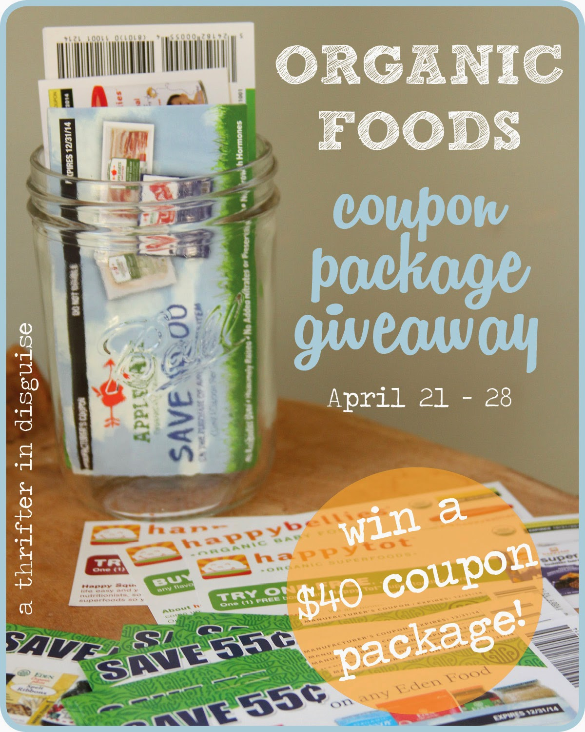 Win organic coupons