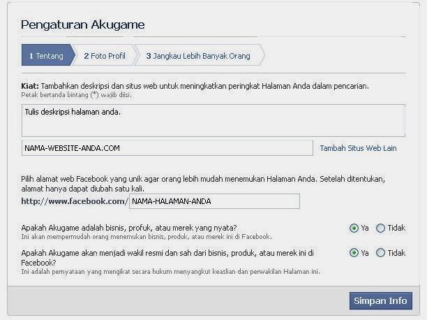 halaman fanspage di facebook 3