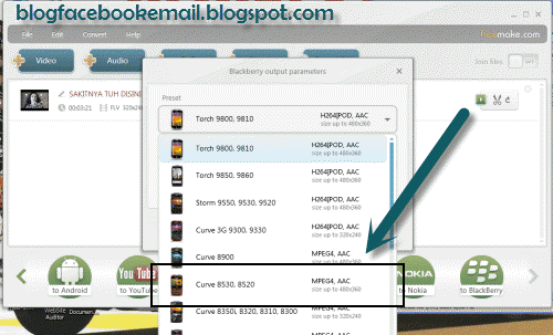 Cara Format Video Ukuran Khusus Blackberry Cara Format Video Untuk Segala Macam Tipe Blackberry