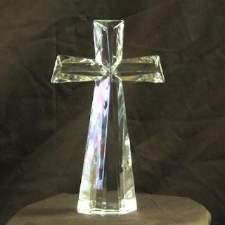 Order A 24% Lead Crystal Cross - Modern Cut