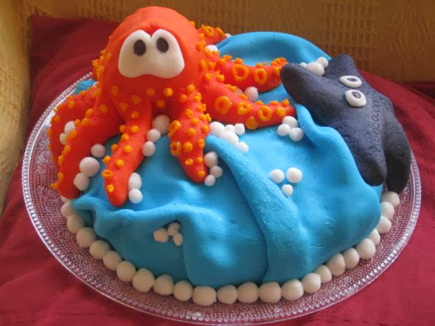 Birthday Cake Octopus Starfish