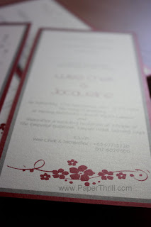 Asian flower wedding invitation