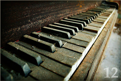 Limited edition Rideout Photography art print of piano keys