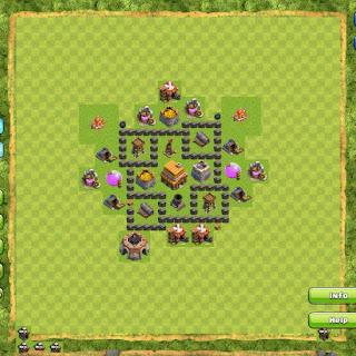 Base Clan War TH4