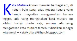 pengertian kata mutiara