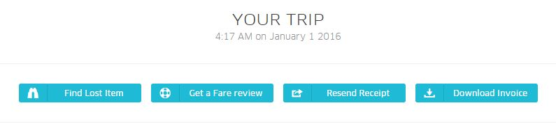 How to report issue with uber trip