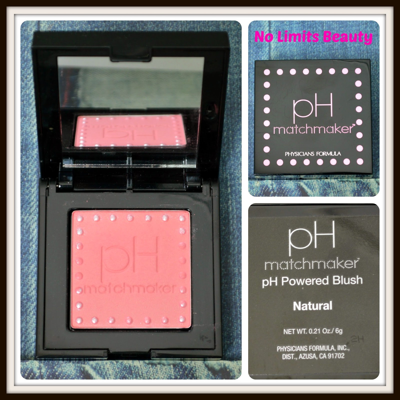 PH Matchmaster powered blush, tono Natural de Physicians Formula