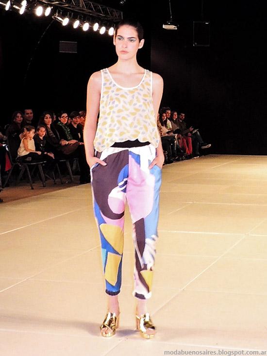 Mariana Dappiano primavera verano 2015. Moda primavera verano 2015 tops, musculosas y pantalones de verano.
