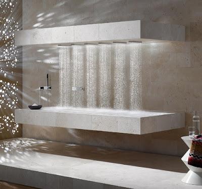 diseño ducha horizontal