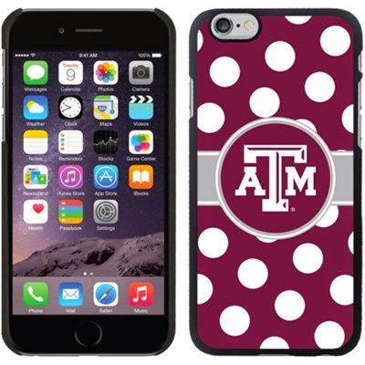 Texas A&M Aggies NCAA Polka Dot iPhone 6 Case