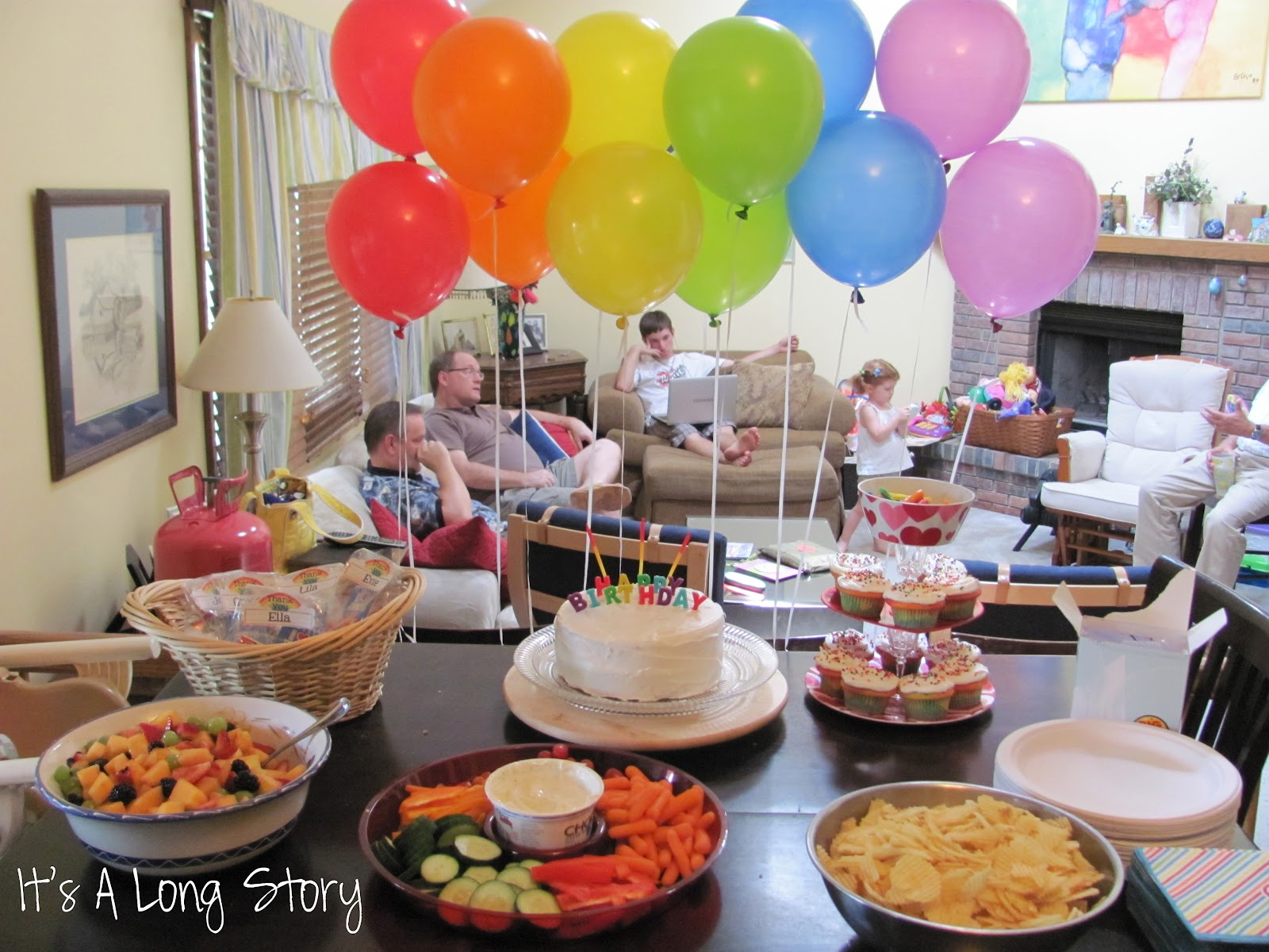 It's a Long Story: Rainbow Birthday Party