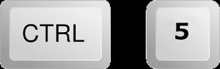 Ctrl + 5       = للحصول على تباعد للأسطر بمقدار 5 سم