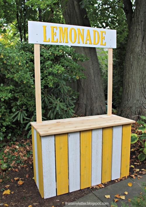 That 39 s my letter diy lemonade stand for Build a lemonade stand
