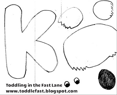 K Is For Koala Coloring Page paper and a circle of green so that our K Koala could climb a tree