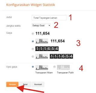 Widget Statistik Blog Keren