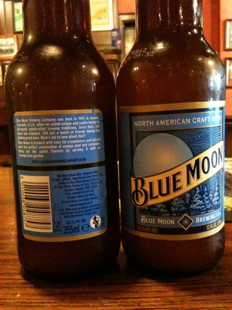 I might have a glass of beer: Blue Moon bullshit