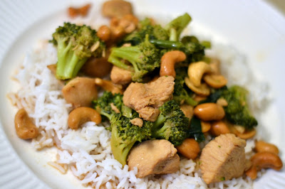 Chicken, Broccoli and Cashew Stir Fry