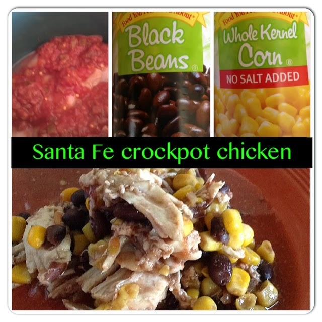 Santa Fe Crockpot chicken: