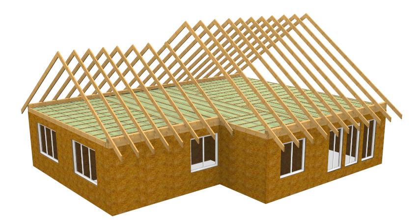 Система двухскатной крыши