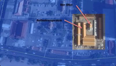 Luft Bild des Wat Chai in Pattaya