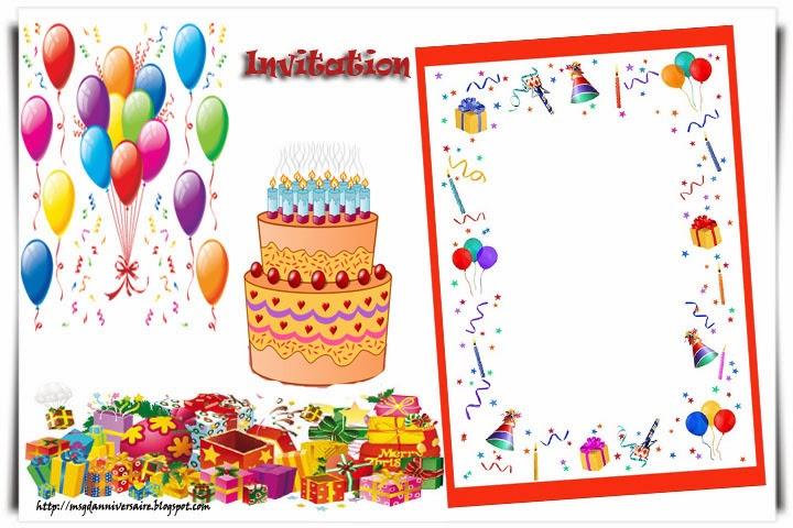 Favori drole pour invitation anniversaire TP89