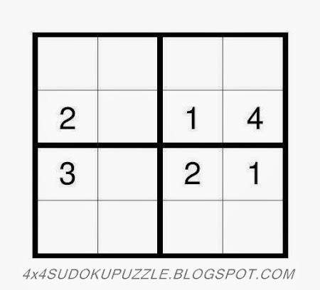 4x4 Sudoku Puzzle