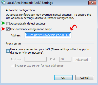 3-ada tulisan tidak dapat tersambung ke server proxy
