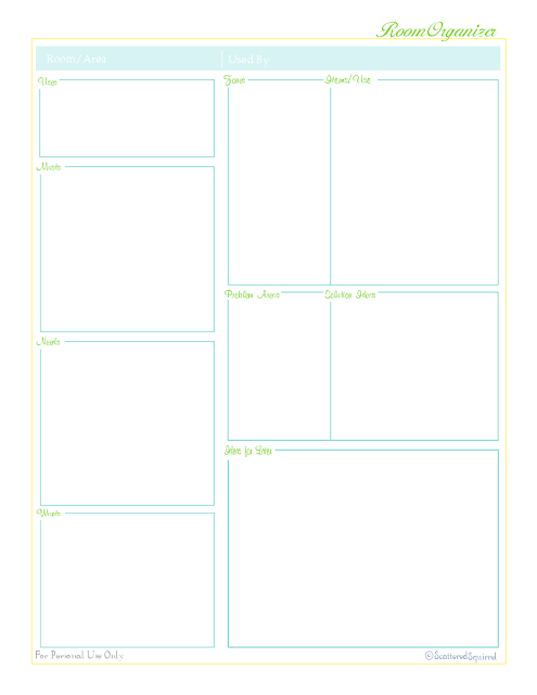 free home management printable for organizing the home