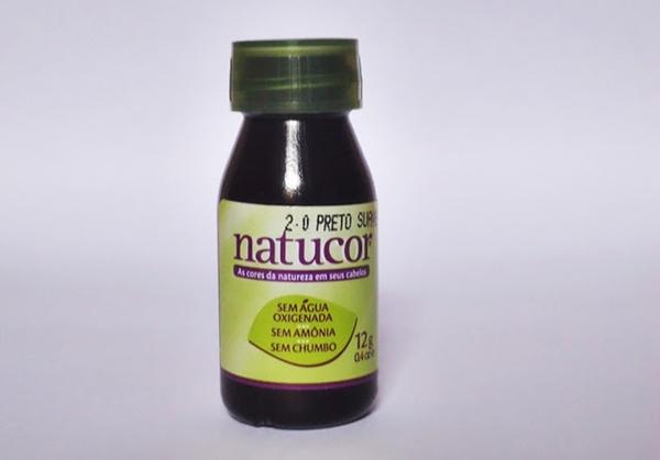 Banho de brilho com Natucor preto suave 2.0