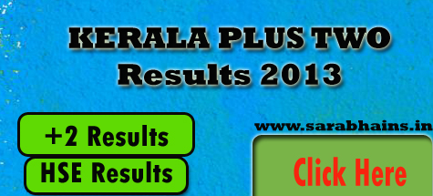 Kerala Plus Two Results 2013