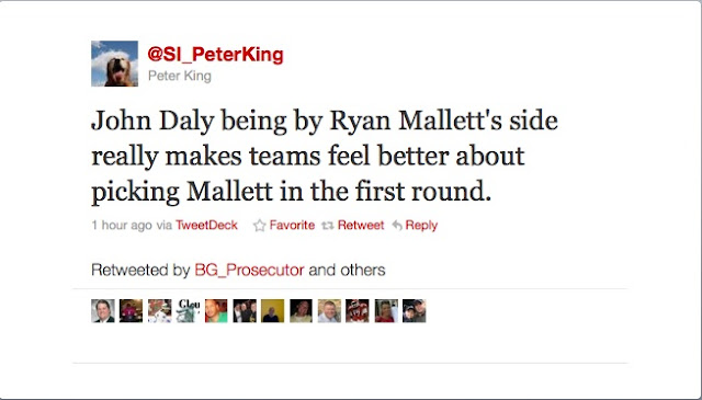 Peter King isn't quite sold on John Daly's support of Ryan Mallett.