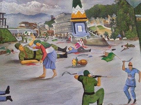 A painting of Gorkhaland Movement July 27, 1986