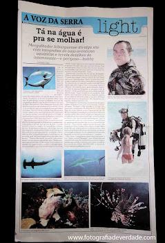 """Entrevista com Gilson Jr publicada no """"A Voz da Serra"""""""