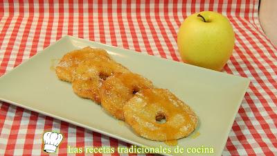 Manzanas rebozadas